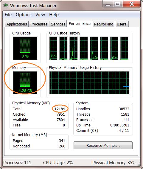 Kiểm tra xem máy có bị thiếu RAM hay không.