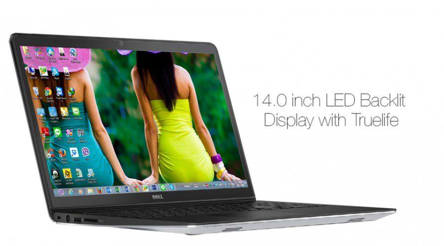 Màn hình HD WLED TrueLife trên laptop Dell